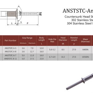 ANSTSTC Countersunk Head / Structural